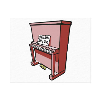 grand upright piano with music.png canvas print