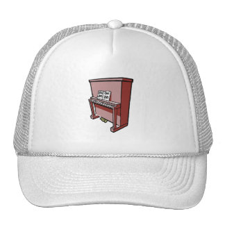 grand upright piano with music.png trucker hat