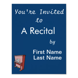 grand upright piano with music.png 4.25x5.5 paper invitation card