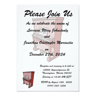 grand upright piano with music.png 5x7 paper invitation card