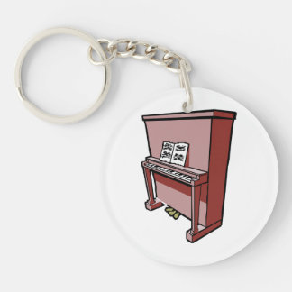 grand upright piano with music.png keychain