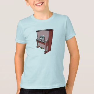 grand upright piano with music.png T-Shirt