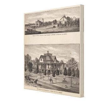 Grand View Farm, Kansas Stretched Canvas Print