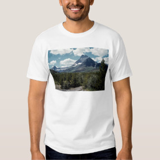 Grand view of mountain peak, Glacier National Park Tee Shirt