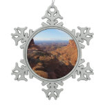 Grand View Point at Canyonlands National Park Snowflake Pewter Christmas Ornament