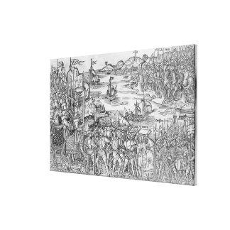 Grand Voyage de Hierusalem' Canvas Print