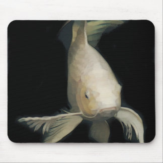 Grand White Koi Mouse Pad