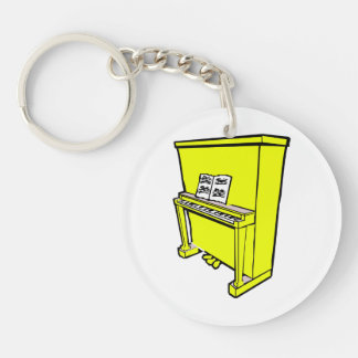 grand yellow upright piano with music.png keychain