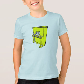 grand yellow upright piano with music.png T-Shirt
