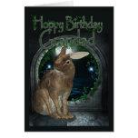 Grandad Birthday Card - Hoppy Birthday With Rabbit