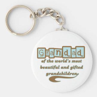 Grandad de nietos dotados llavero personalizado