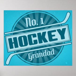 Grandad del hockey No.1 Póster