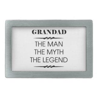 Grandad el hombre el mito la leyenda hebilla de cinturon rectangular