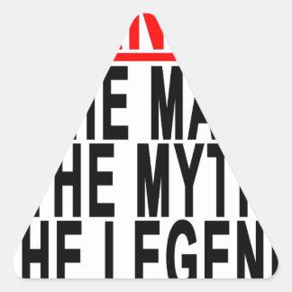 Grandad el hombre el mito la leyenda Shirts.png Pegatina Triangular