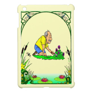 Grandad in hid garden iPad mini covers