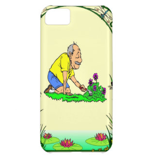 Grandad in the garden cover for iPhone 5C