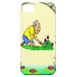 Grandad in the garden iPhone SE/5/5s case