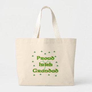 Grandad irlandés orgulloso bolsa tela grande