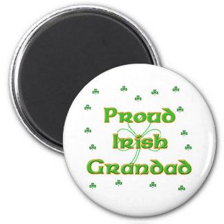 Grandad irlandés orgulloso imán redondo 5 cm