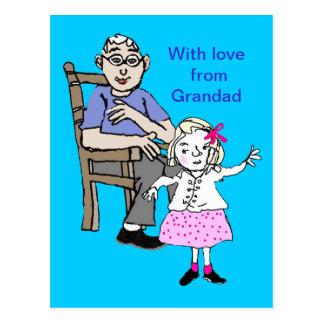 Grandad loves me post cards