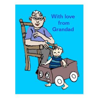 Grandad loves me postcard