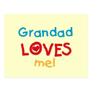 Grandad Loves Me T-shirts and Gifts Post Card