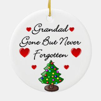 Grandad Memorial Christmas Tree Ceramic Decoration Christmas Tree Ornaments