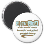 Grandad of Gifted Grandchildren Fridge Magnets
