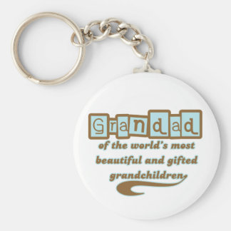 Grandad of Gifted Grandchildren Keychain