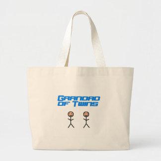 grandad of twins canvas bags