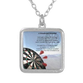 Grandad Poem - Darts Silver Plated Necklace