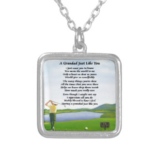 Grandad Poem - Golf Silver Plated Necklace