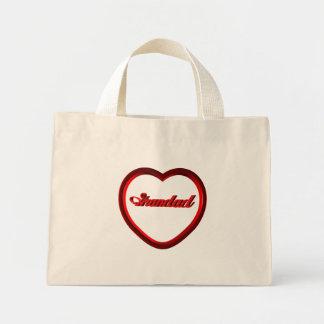 Grandad Red Heart Frame Canvas Bag