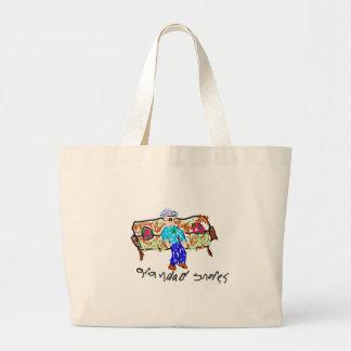 Grandad Snores Large Tote Bag
