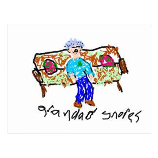 Grandad Snores Post Card