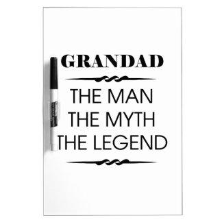 Grandad The Man The Myth The Legend Dry-Erase Whiteboards