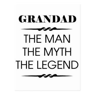 Grandad The Man The Myth The Legend Postcard