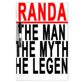 Grandad The Man The Myth The Legend Shirts.png Dry-Erase Board