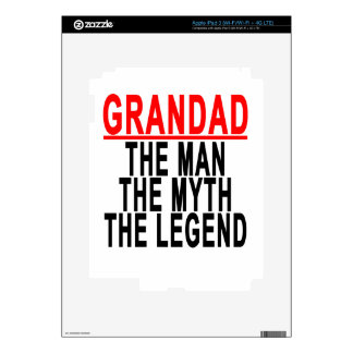Grandad The Man The Myth The Legend Shirts.png iPad 3 Skins