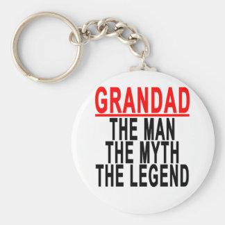 Grandad The Man The Myth The Legend Shirts.png Keychain