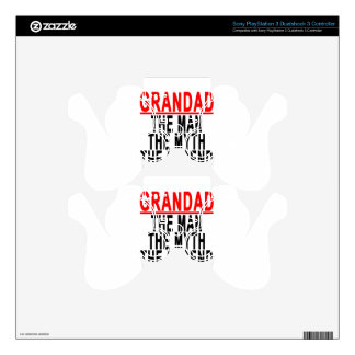 Grandad The Man The Myth The Legend Shirts.png PS3 Controller Decals