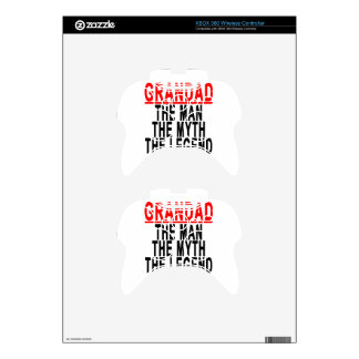 Grandad The Man The Myth The Legend Shirts.png Xbox 360 Controller Decal