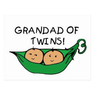 Grandad Twin Pod Postcard