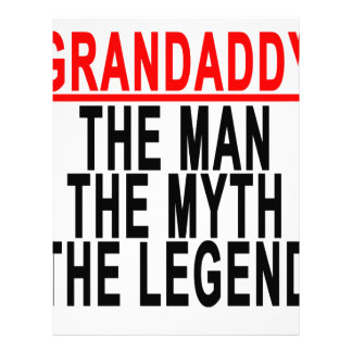 Grandaddy el hombre el mito la leyenda Shirts.png Plantilla De Membrete