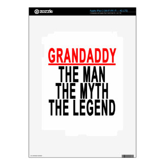 Grandaddy The Man The Myth The Legend Shirts.png Decal For iPad 3