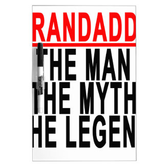 Grandaddy The Man The Myth The Legend Shirts.png Dry-Erase Whiteboards