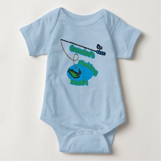 Grandad's Fishing Buddy Baby Bodysuit