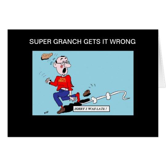 GRANDADS SORRY CARD