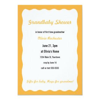 Grandbaby Shower with orange border Invites