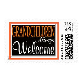 Grandchildren Always Welcome Postage Stamps